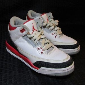 "Nike Air Jordan's ""Fire Red"" Cement Retro Shoes"